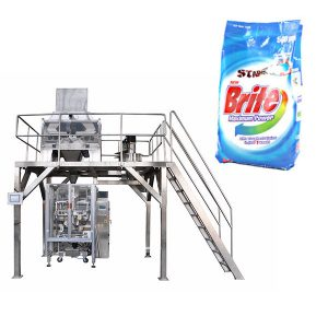 Reinigungsmittel-Waschpulver-Verpackungsmaschine mit 4 linearen Waagen
