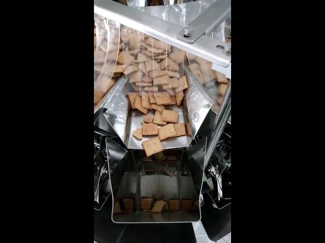 Beutel vertikaler Formfüllverschluss 14 Köpfe Waage und Verpackung 2 in 1 für 5kg Welpenfutter