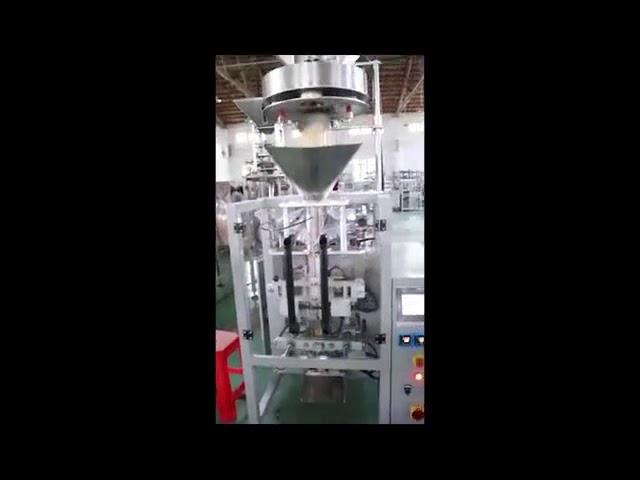 Dosierung durch volumetrische Füllbecher Linsen Reiszucker-Verpackungsmaschine Vertikale Formfülldichtmaschine